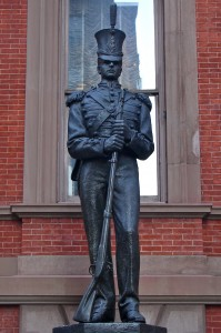 "Statue of Denzel Washington, the ""Union Club"" statue"